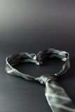 Heart shaped tie Stock Images