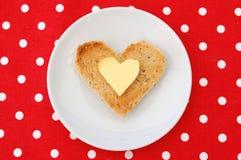 Heart shaped toast Royalty Free Stock Photography