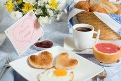 Heart shaped toast Royalty Free Stock Image