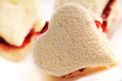 Heart shaped toast  Stock Photo