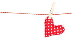 Heart shaped toy hanging Stock Image