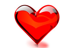Heart shaped & transparent Stock Images