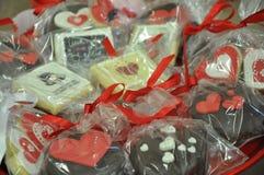 Heart shaped treats Royalty Free Stock Photo