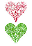 Heart shaped tree royalty free illustration