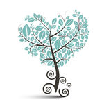 Heart Shaped Tree with Curled Roots Royalty Free Stock Photography
