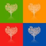 Heart-Shaped Tree Set Stock Image