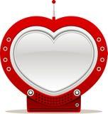 Heart shaped tv Stock Photo