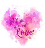 Heart shaped typography background Stock Photos