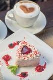 Heart-shaped valentine cake Royalty Free Stock Image