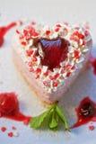 Heart-shaped valentine cake Royalty Free Stock Photography