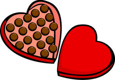 Heart shaped valentine chocolate box Royalty Free Stock Photos