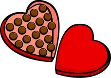 Heart shaped valentine chocolate box. Illustration of a heart shaped valentine chocolate box Royalty Free Stock Photos