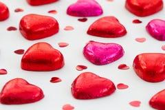 Heart Shaped Valentine Chocolates. stock photo