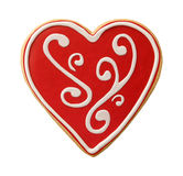 Heart Shaped Valentine Cookie Royalty Free Stock Photography