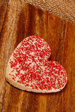 Heart shaped Valentine cookie Stock Photos