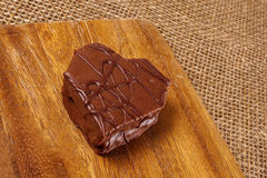 Heart shaped Valentine cookie Royalty Free Stock Images