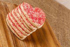 Heart shaped Valentine cookies Royalty Free Stock Image