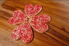 Heart shaped Valentine cookies Royalty Free Stock Images
