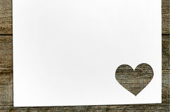 Heart shaped Valentine day cut paper Royalty Free Stock Photography