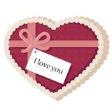 Heart shaped valentine's day card Stock Photo