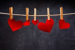 Heart shaped Valentine's Day cards Royalty Free Stock Photography