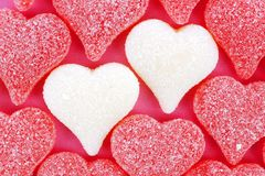 Heart shaped Valentines candy Royalty Free Stock Image