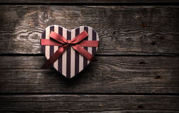 Heart shaped Valentines Day gift box Royalty Free Stock Photos