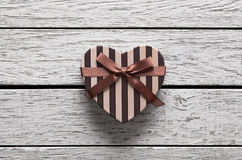 Heart shaped Valentines Day gift box Stock Photography