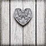 Heart shaped Valentines Day gift box Stock Images