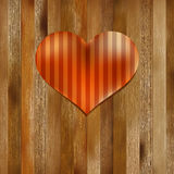 Heart shaped Valentines Day symbol.  + EPS8. Heart shaped Valentines Day symbol on old wood.  + EPS8 vector file Stock Illustration