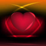 Heart-shaped. Vector illustration of a heart-shaped Royalty Free Stock Image