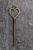 Heart shaped vintage key Royalty Free Stock Photos
