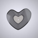 Heart shaped Vinyl record (Popular Music Concept) Royalty Free Stock Photo
