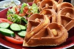 Heart-shaped waffle Royalty Free Stock Photos