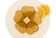 Heart-Shaped Waffle For Valentine's Day 2 Royalty Free Stock Photo