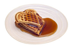 Heart Shaped Waffles Royalty Free Stock Photo