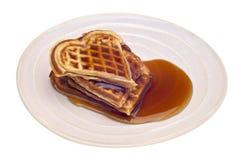 Heart Shaped Waffles Royalty Free Stock Photo