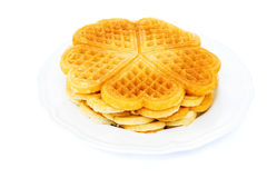 Heart shaped waffles Stock Images