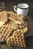 Heart Shaped Waffles Stock Image