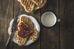 Heart Shaped Waffles Royalty Free Stock Image