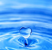 Heart shaped water drop Royalty Free Stock Photo