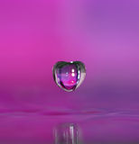 Heart shaped water droplet. Stock Image