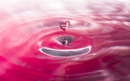 Heart-shaped Water Droplet Royalty Free Stock Photo
