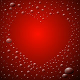 Heart Shaped Waterdrops Royalty Free Stock Photography