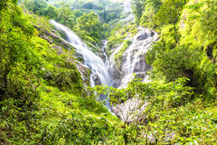 Heart-shaped waterfall. Pitugro waterfall locate in deep forest of Umpang, Thailand.  Stock Images
