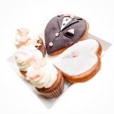 Heart shaped wedding cake Royalty Free Stock Photo