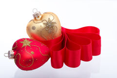 Heart-shaped Weihnachtsdekoration Lizenzfreies Stockbild
