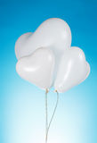 Heart shaped white balloons Royalty Free Stock Image