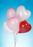 Heart shaped white balloons Royalty Free Stock Photos