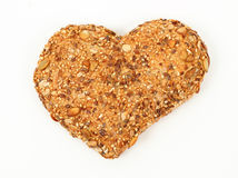 Heart shaped wholemeal bun Stock Photography